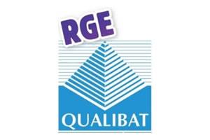 Logo RGE Qualibat bleu blanc et violet