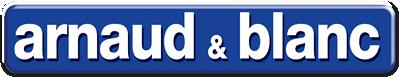 Logo bleu et blanc Arnaud et Blanc