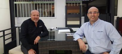 Christophe Blanc à droite et Pierre Arnaud à gauche