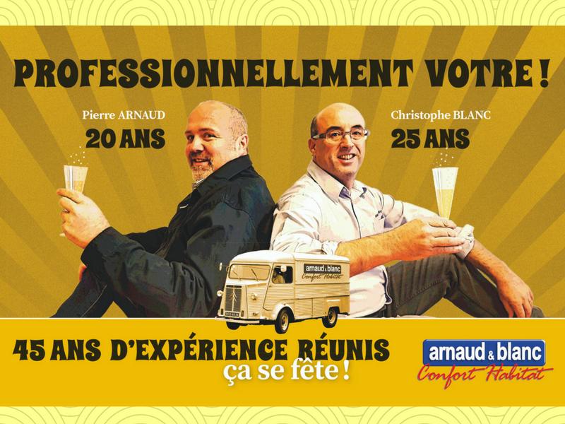 Christophe Blanc et Pierre Arnaud fête l'anniversaire de l'entreprise Arnaud et Blanc