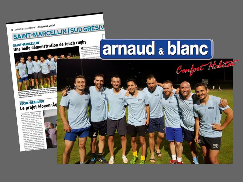 Arnaud et Blanc gagne le tournoi de touch rgby, organisé par le SMS