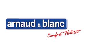 Logo histoire bleu blanc et rouge Arnaud et Blanc