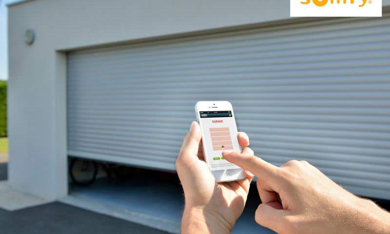 Ouverture porte garage avec télécommande Somfy
