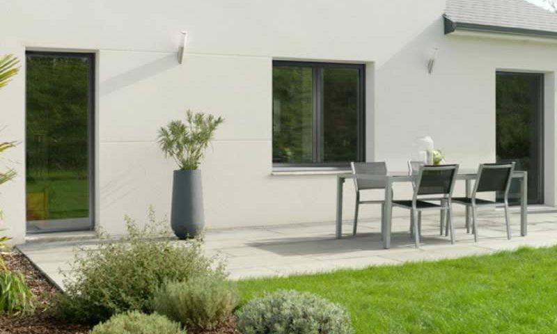 Fenêtres et porte grises en alu Kline Arnaud et Blanc